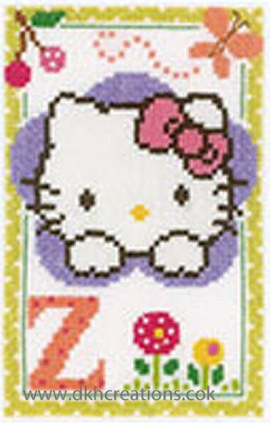 Hello Kitty Alphabet Letter Z Cross Stitch Kit
